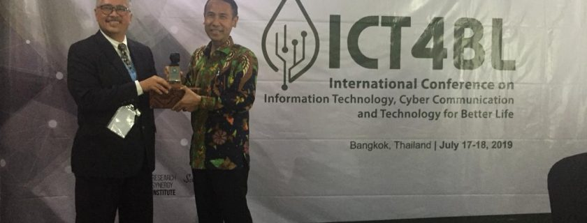 International Conference on IT, Communication and Technology for Better Life oleh Universitas Budi Luhur di Bangkok, Thailand