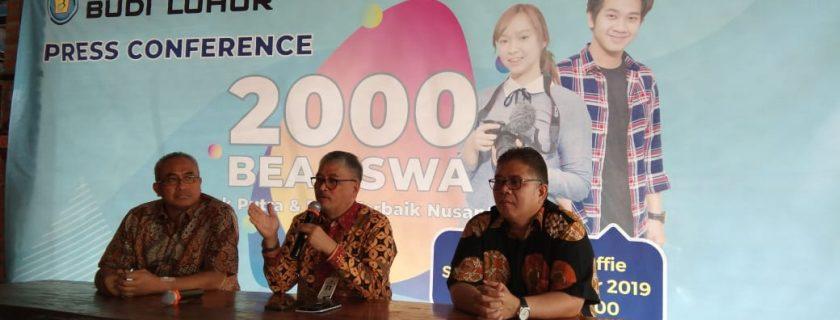 Universitas Budi Luhur Menyediakan 2000 Beasiswa Tahun Ajaran 2020/2021 Kepada Putera-Puteri Indonesia