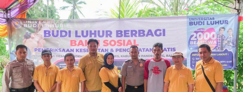 Yayasan Pendidikan Budi Luhur Çakti bersama Rumah Sakit Aminah Melaksanakan Corporate Social Responsbility (CSR) di Desa Cigandeng, Pandeglang