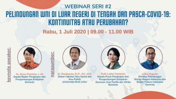 Universitas Budi Luhur Bekerja Sama dengan BPPK Kementrian Luar Negeri Melaksanakan Webinar