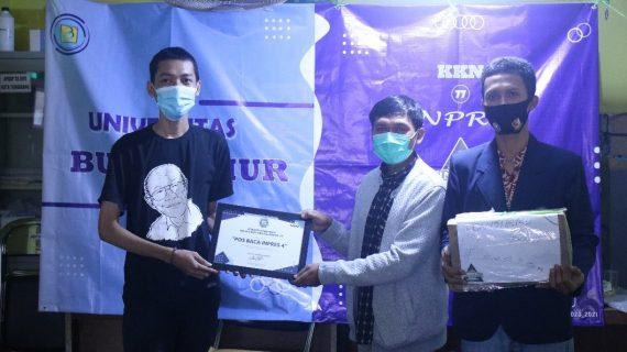 Mahasiswa Universitas Budi Luhur melakukan Edukasi Pencegahan Penularan Covid-19 Melalui Mitra Perpustakaan Baca Inpres IV