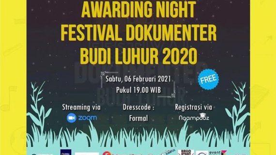 Awarding Night Festival Dokumenter Budi Luhur 2020: Konsisten Berkarya di Tengah Pandemi