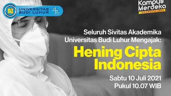 Universitas Budi Luhur Mengajak Hening Cipta Indonesia untuk Nakes dan Pasien COVID-19